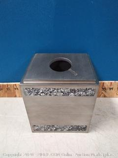 India Ink Omni Boutique Tissue Box Holder in Pewter (Scuffed) online $29