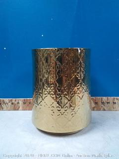 Gold Wastebasket