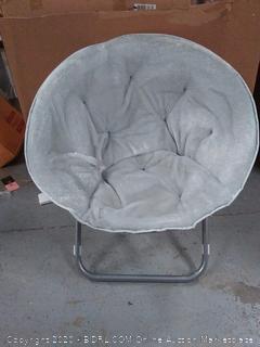 suede saucer chair light grey