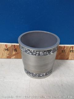 India Ink Omni Cotton Ball Holder in Pewter (online $19) no lid