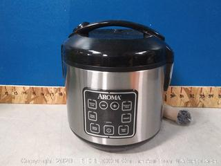 Aroma 8-Cup Programmable Rice & Grain Cooker Steamer(powers on)