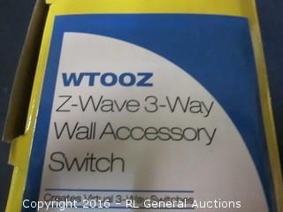 Z Wave  3 way Wall accessory switch