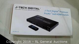 J-Tech Digital Premium ProAV 4x8 HDMI Switch Powers on Please preview