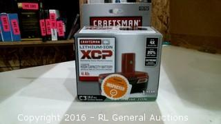 Craftsman Lithium=ion XCP Battery