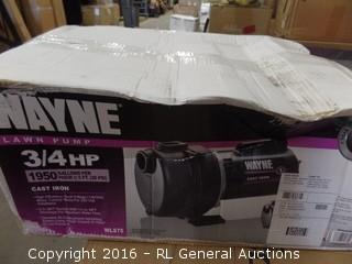 Wayne Lawn Pump  Package box New In box