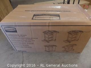 Rubbermaid Housekeeping Janitorial cleaning Cart Package damaged New in Box