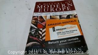 A History of Modern Europe