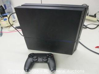 PS4 System (Powers On,Black Screen, Monitor Not Included,No Controller Charger)