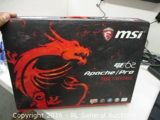 MSI GE 62 Apache Pro (Powers On)