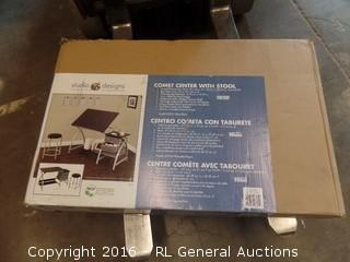 Comet Center with stool Package Damaged New In Box