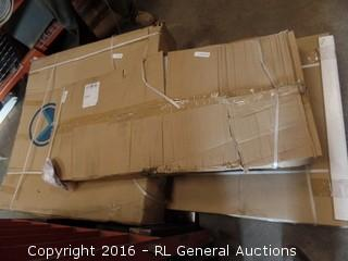 Stainless Steel Shower  3 Boxes See pIctures Package damaged New in Box