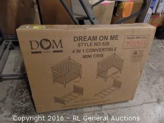 Dream On Me 4 in 1 Convertible Mini Crib