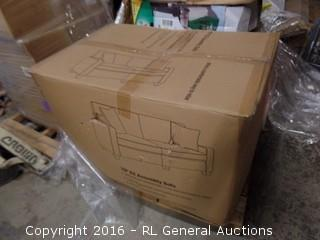 """78"""" EZ Assembly Sofa (Package Damaged,New In Box)"""
