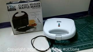 Elite Classic Belgian Waffle Maker