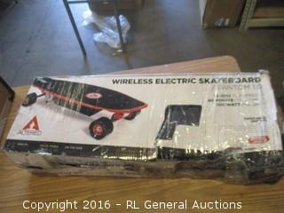 Wireless Electric Skateboard Powers on Please preview