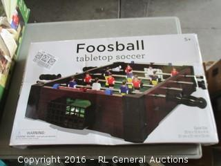 Foosball tabletop