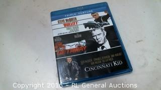 Triple Feature -Bullitt, Getaway, Cincinnati Kid