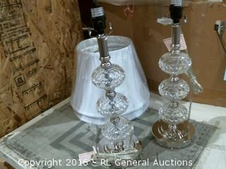 2 Table lamps and shades