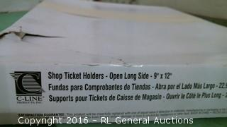 Shop Ticket Holder