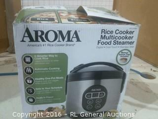 aroma rice Cooker & Food Steamer dented see pcis
