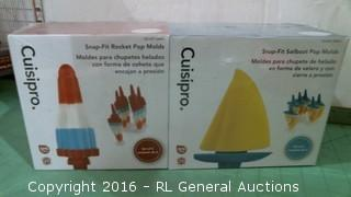 Cuisipro Snap Fit Rocket Pop Molds