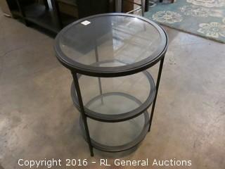 Round 3 Tier Glass Shelf Table