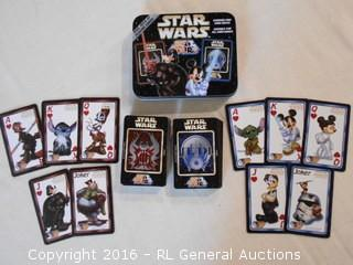 2008 Disney Star Wars Playing Cards w/ Collector Tin
