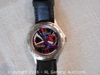 2004 Marvel Spiderman Watch w/ Leather Band