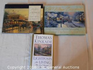 3 Thomas Kinkade Books - 2 Coffee Table Books & 1 Novel