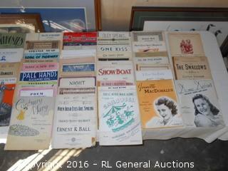 Antique / Vintage Sheet Music Lot
