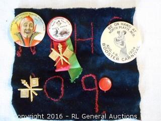 Antique 1900, 1904 Carnival & Street Fair Buttons - Excellent Condition