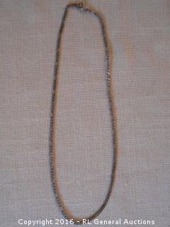 Sterling Silver 925 Necklace Chain Link Style