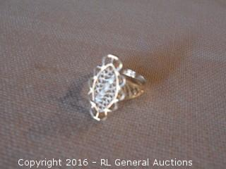 Sterling Silver 925 Ring Perforated Cut