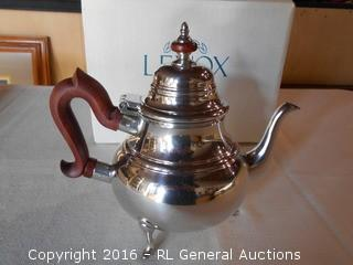New Lenox Kirk Stieff Collection Pewter Teapot (CW180) - Very High End