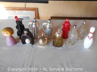 Vintage Avon Collectors Bottles - Golf, Small World, Capital, Spartan ++