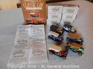 Collector's Set of Classic Car Miniatures w/ Original Box's & Paperwork