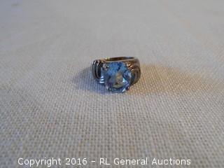 Sterling Silver 925 Ring w/ Blue Topaz Stone