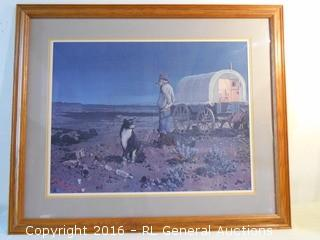 "Dan Taylor Art Print Signed & #'d 144/250  38"" W X 31"" T"
