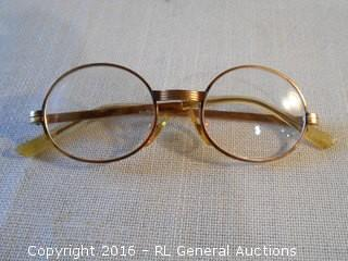 Vintage 14K Gold Filled Reading Glasses made in France