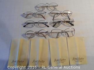Vintage Reading Glasses & Advertising Cleaning Towels