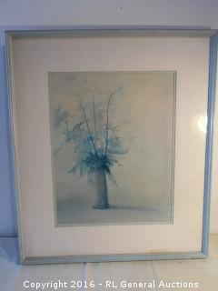 """Framed & Matted Signed Print 25"""" W X 29"""" T"""
