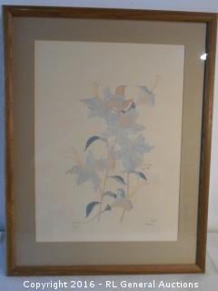 "Large Framed Signed Print #'d 125/750 ""Western Azalea"" by Moran"