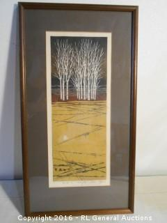 """1974 Signed and #'d 154/200 Artwork  10.25"""" W X 19"""" T"""