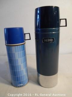 2 Vintage Thermos Jugs Complete