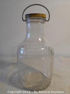 """Vintage Jar w/ Lid 11"""" Tall"""