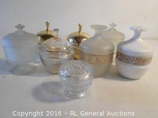 Lot of Lidded Compote's