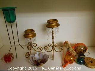 Decorative Candlesticks Lot +