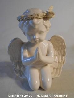 "9"" Tall X 8"" W Cherub Angel Praying Statue"