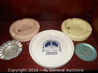 Vintage Ashtrays with Advertising