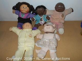 Lot of 5 Vintage Cabbage Patch Kids Dolls